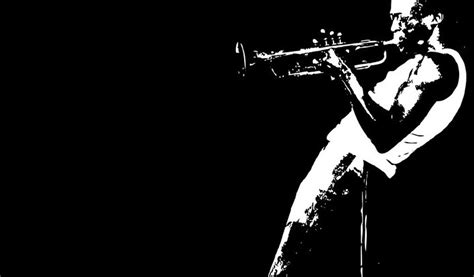 jazz wallpaper black and white jazz trumpet wallpaper free desktop i hd images