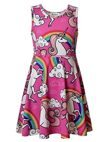 unicorn pattern dress jxstar girl s unicorn dress unicorn party supplies fairy