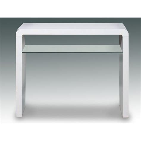 A17 White Gloss Console Table