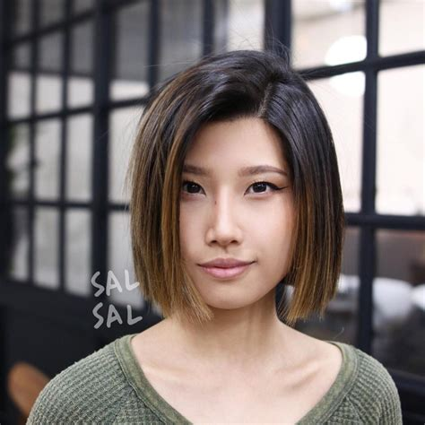 blunt cut o techniques wiki women s blunt cut bob with textured ends and brunette