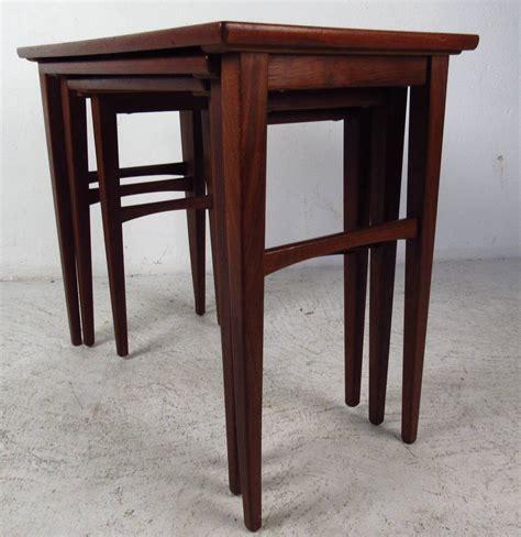 Scandinavian Table L by Scandinavian Teak Nesting Tables At 1stdibs