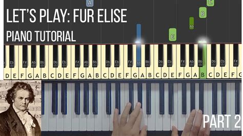 Youtube Tutorial Fur Elise | let s play fur elise part 2 piano synthesia tutorial