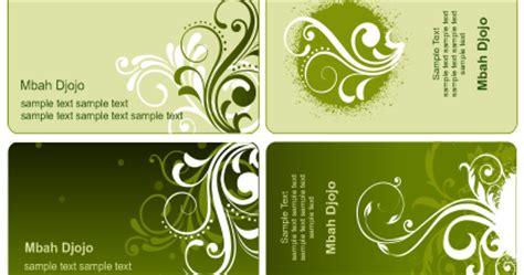 template kartu nama corel draw x5 template kartu nama warna hijau belajar coreldraw