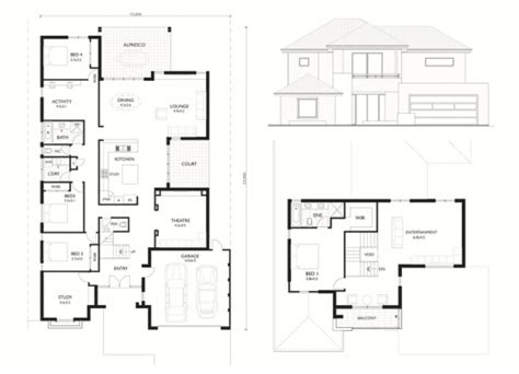 narrow lot 2 story house plans fascinating lot narrow plan house designs craftsman plans