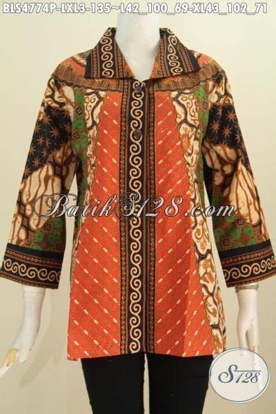 Rok Batik Katun Jarik Halus Fit Xl baju blus kerah kotak untuk wanita dewasa busana batik