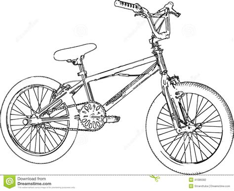 bmx bike drawings