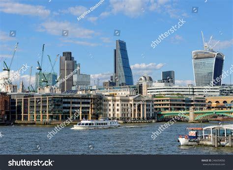 thames river cruise nearest tube station london united kingdom july 1 2014 stock photo 246659050