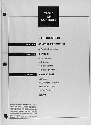 service manual 1999 lincoln continental engine overhaul manual service manual continental