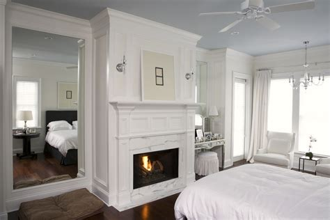 white marble fireplace bedroom traditional with bedroom