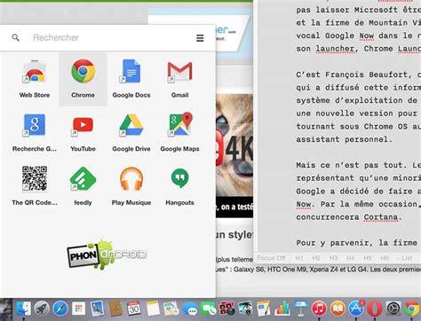 chrome launcher google veut concurrencer cortana dans windows 10 avec
