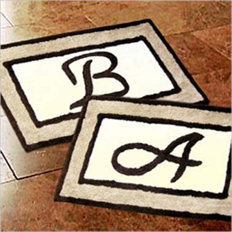 Monogrammed Bathroom Rugs Monogrammed Bathroom Rugs Rugs Ideas