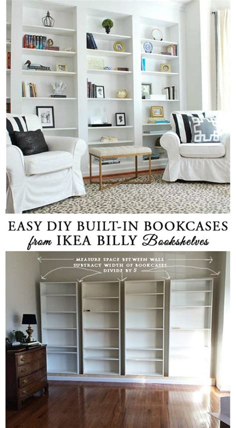 ikea furniture bookshelves how to build diy built in bookcases from ikea billy
