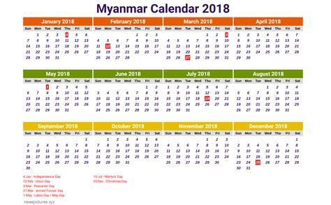 Myanmar Calendar 2018 Myanmar Calendar 2018 Newspictures Xyz