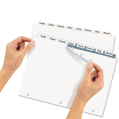 avery 11417 index maker print apply clear label dividers