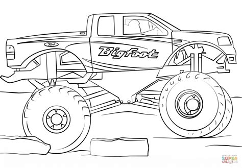 bigfoot truck coloring pages get this bigfoot truck coloring page 73610