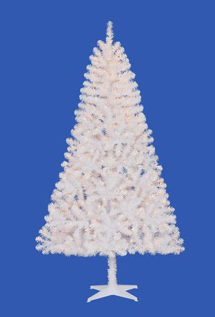 holiday time madison 6 5 white pine christmas tree with