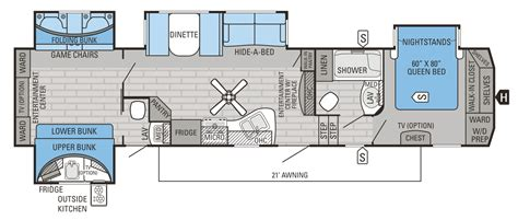 bunkhouse fifth wheel floor plans fifth wheel bunkhouse floor plans meze blog