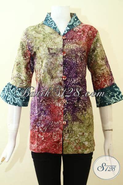 Ld Cap Smok Baju Batik Baju Batik Kantor busana batik seragam kantor proses cap tulis warna gradasi