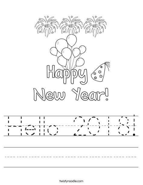 new year 2016 questions and answers hello 2018 worksheet twisty noodle
