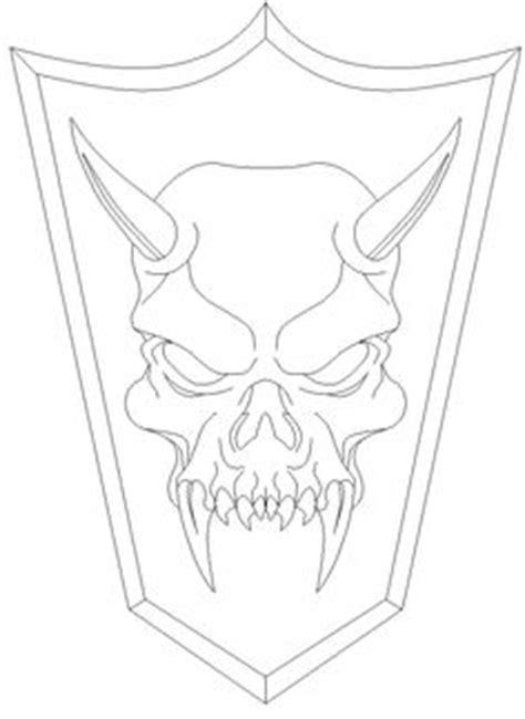 purple zombie demon skull ink drawing   demon
