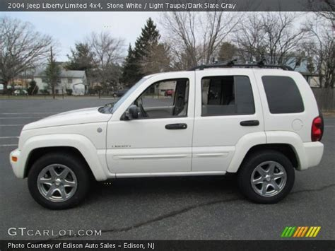 2004 Jeep Liberty Limited White 2004 Jeep Liberty Limited 4x4 Light Taupe
