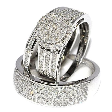 Wedding Hers by Awful Of His And Hers Wedding Ring Sets White Gold