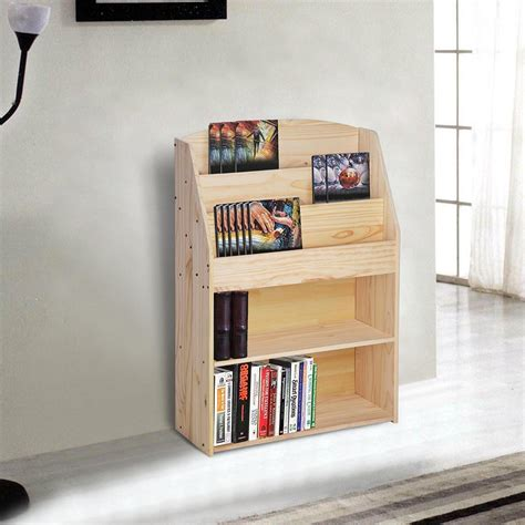 bookcase and organizer wood bookshelf storage book shelf rack display organizer