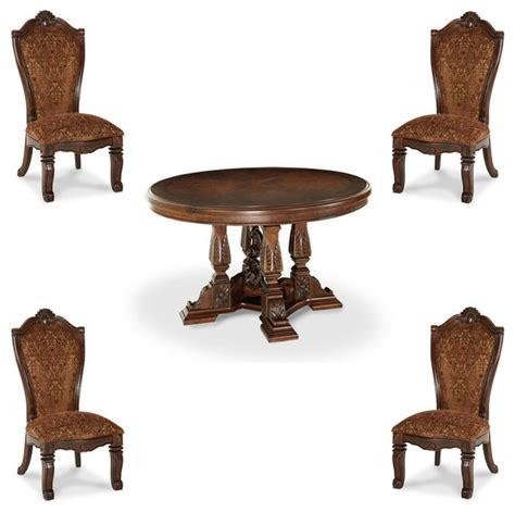 court 5 dining table set traditional