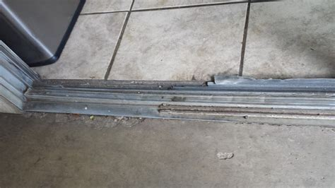 Patio Sliding Door Track Sliding Glass Patio Door Repairs Track Or Roller Repair Or Replacement On Aluminum Or Vinyl