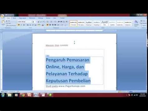 format makalah tanggapan tutorial membuat cover makalah skripsi unpam