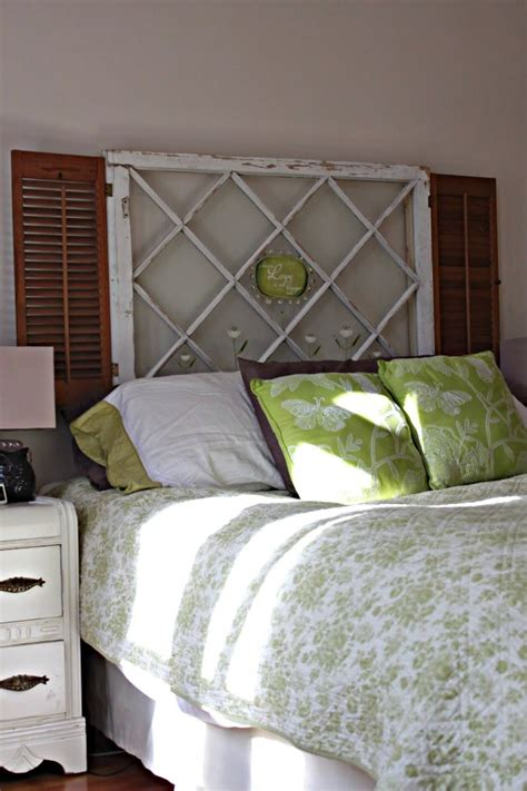 purpose of headboard old window headboard with shutters windows pinterest
