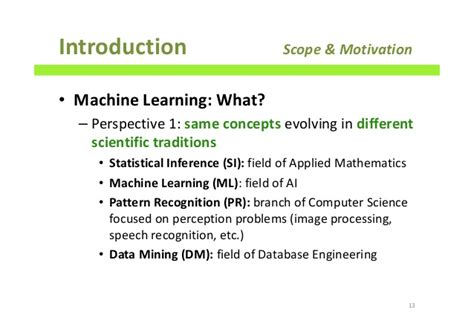 introduction to pattern recognition and machine learning pdf machine learning applications process and techniques