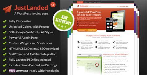 theme wordpress landing page free justlanded wordpress landing page by shapingrain