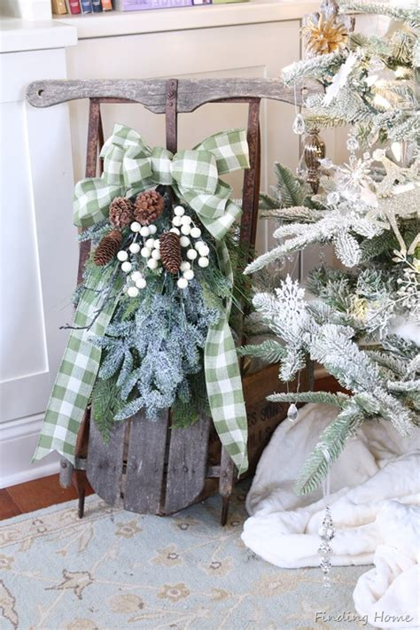 decorating ideas vintage decorating finding home farms holiday hospitality vintage christmas sled tutorial