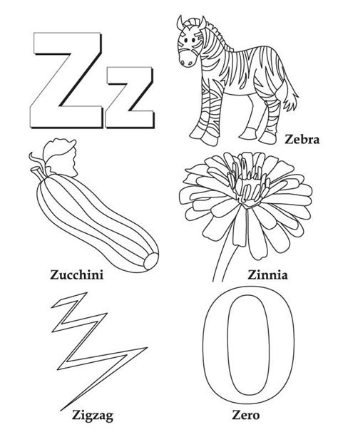 Start With Z Coloring Page Coloring Pages Z Coloring Page