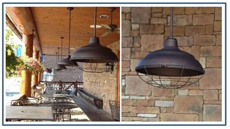 outdoor lighting warehouse warehouse pendants boost rustic ambiance at nc restaurant