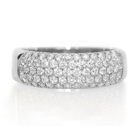 items similar to pave wedding band dainty ring unique