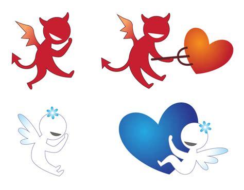 imagenes png vs 무료 일러스트 천사 악마 사랑 마음 지옥 천국 드로잉 열정 커플 pixabay의 무료