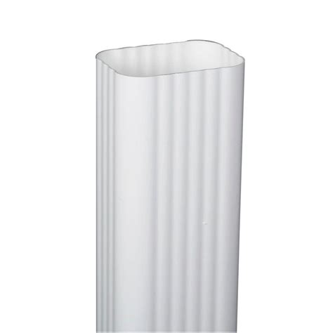 amerimax home products 6 in x 10 ft white aluminum