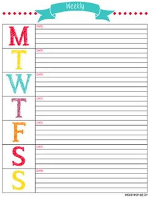 free printable day planner pages 2014 1000 ideas about weekly calendar on pinterest planners