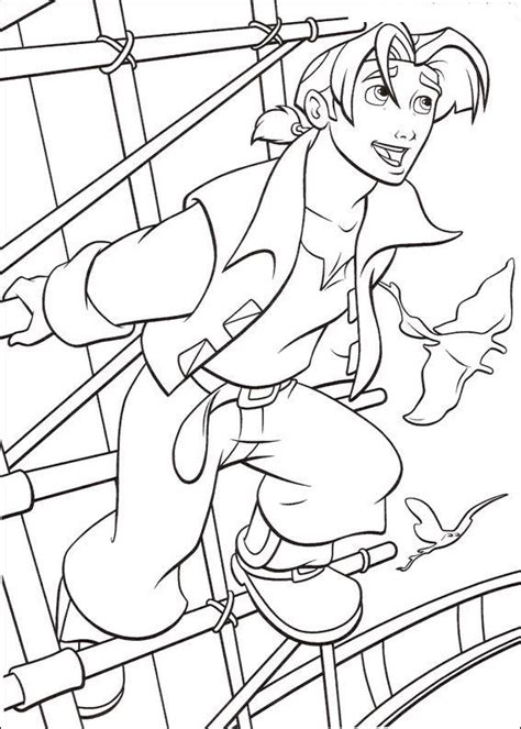 coloring page treasure planet coloring pages 48