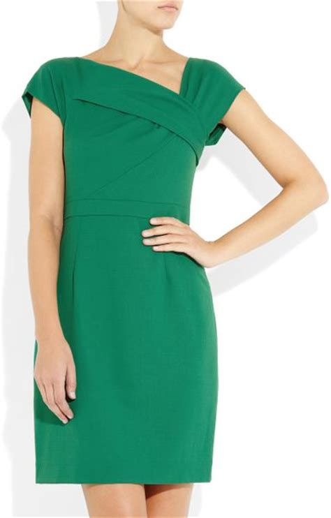 J Crew Origami Dress - j crew origami pleated woolcrepe dress in green emerald