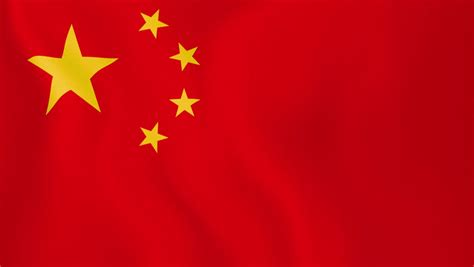 China Flag High Chrome flag of china loopable flag waving in the wind