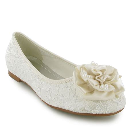 flat bridal shoes ivory new womens ivory flat wedding bridal shoes size 3 8 uk