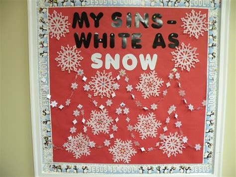 this is my bulletin board for january sunday school