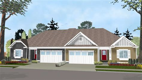 easy to build house plans easy to build duplex house plan 62562dj architectural