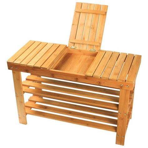 bamboo shoe rack bench sobuy 100 bamboo shoe rack bench seat with storage draw