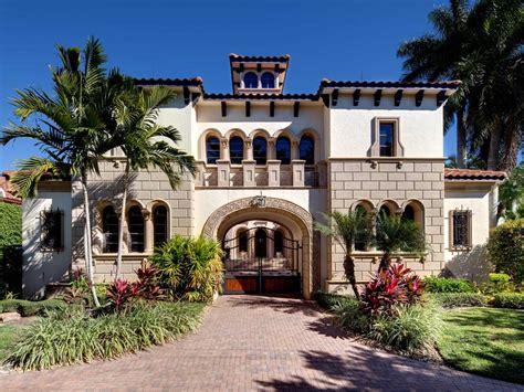 Spanish style mansion is located in Naples, FL.   Hgtv living   Pinterest   Spanish