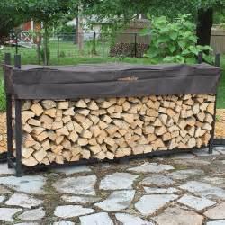 Woodhaven Wood Rack by 8 Foot Woodhaven Firewood Rack In Outdoor Firewood Racks