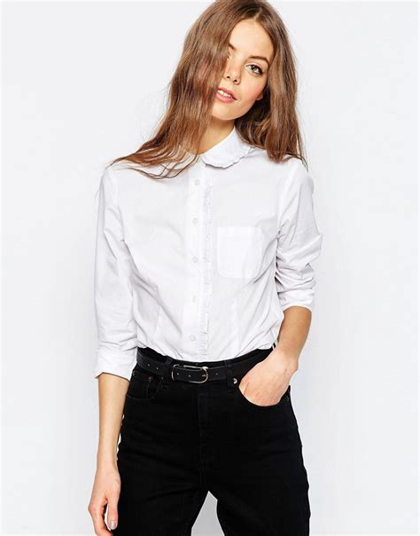 White Blouse Pan Collar by Shopping Guide Dresses And Tops With Pan Collars